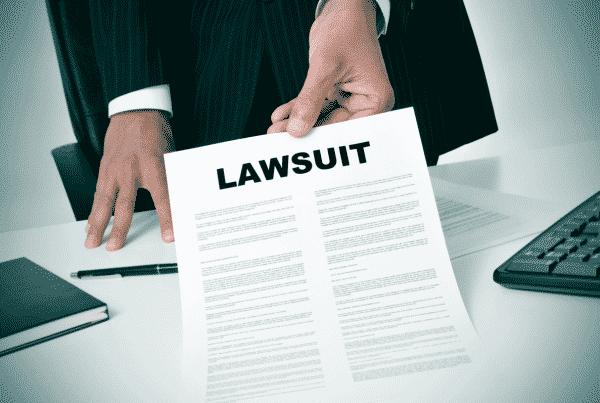 Attorney Presenting Notice of Civil Lawsuit